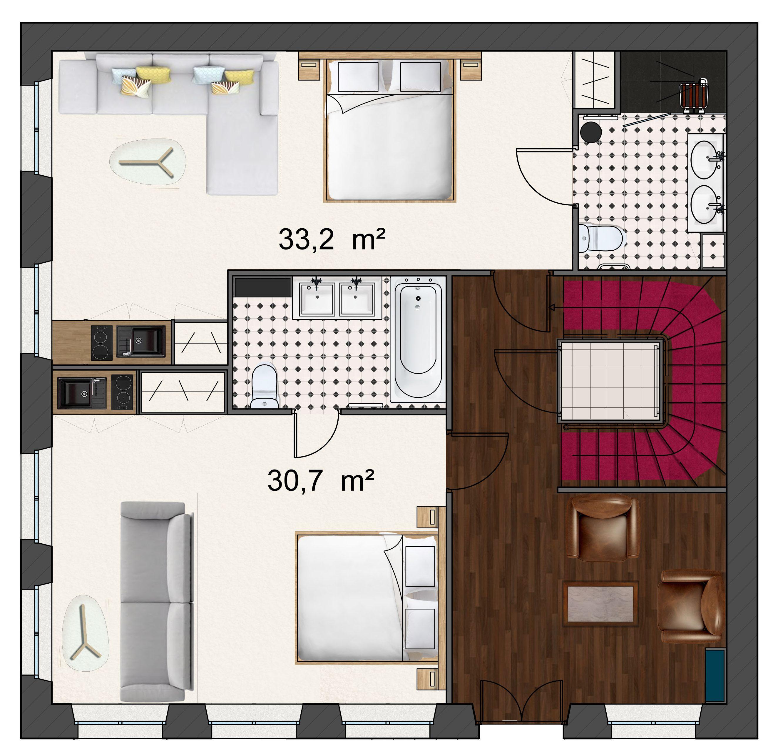 Aménagement d'un appart -hôtel