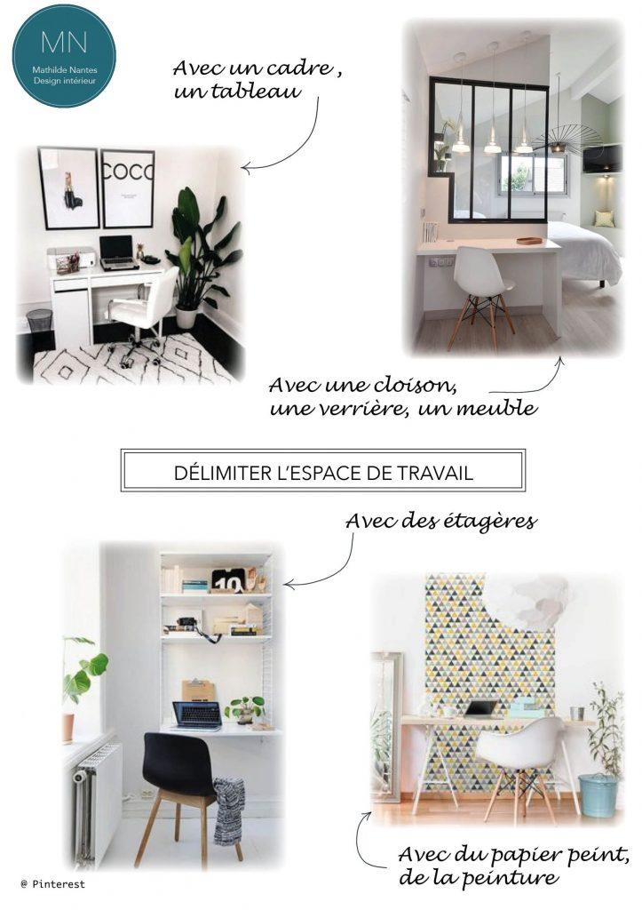 Idées pour délimiter son espace de travail