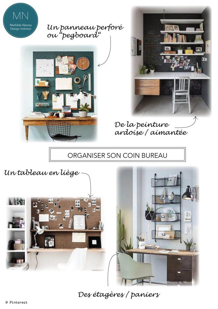 Organiser un petit coin bureau